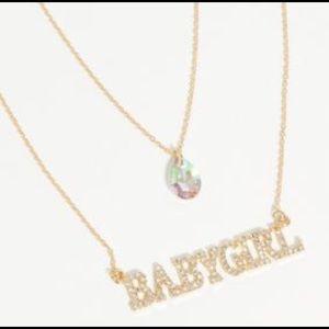 Jewelry - BABYGIRL SIGNATURE GOLD RHINESTONE NECKLACE, NWT